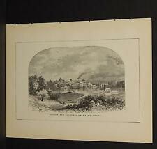 America Illustrated, Print, 1883 T1#19 Government Buildings on Ward's Island