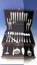 SPRING GLORY BY INTERNATIONAL STERLING SILVER FLATWARE SERVICE SET 46 PIECES