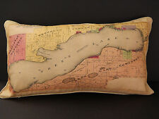 Green Lake, Wisconsin, Pillow, 1901 Map, Made in Wisconsin!