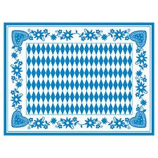 """600 Tischsets Airlaid 30 cm x 40 cm """"Bayrisch Blau"""" Wiesn Oktoberfest Platzsets"""