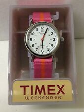 "Timex T2P072, Women's ""Weekender Pink Fabric Watch, Indiglo,T2P072KZ $49.95 NWT"