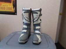 THOR NOS Quadrant Motocross Boots White/Grey Adult Size 6 3410-0103