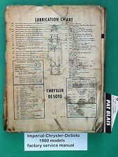 """Chrysler-Imperial-DeSoto 1960 FACTORY Service Manual – WELL Used """"Shop Copy"""""""
