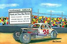 DON MacTAVISH ART PRINT Stockcar Drag Racing Hot Rod NASCAR Short Track Rod Pro