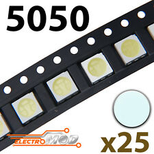 25x LED SMD5050 BLANCO FRIO alto brillo smd 5050 white cool