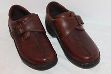 EASTLAND WOMEN'S  BROWN LEATHER BUCKLE STRAP OXFORDS 6M FRONT SEAM EX PREOWNED