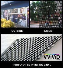 "Perforated one way vision print media vinyl 25ft x54"" VVIVID XPO window film"