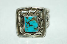 Navajo Men's Ladies Turquoise ring Sterling Silver signed