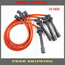 Hot Spark Plug Wires Set 10.2MM Silicone Fit Mitsubishi Eagle Eclipse Talon Red