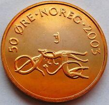 50 Öre Øre 2003 MF Norwegen BRILLIANT UNZIRKULIERT-IN FOLIE EINGESCHWEIßT!