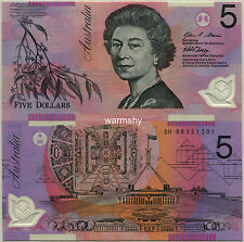 Australia 2008-2013 Polymer Banknotes 5 Dollars UNC