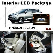 For Hyundai Tucson 2010-16 Xenon White LED Interior kit +White License Light LED