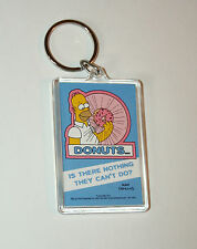 Vintage The Simpsons Cartoon Homer Donuts Plastic Key Chain New NOS 2001