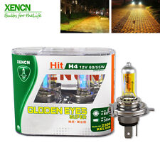 XENCN H4 12V 60/55W 2300K Golden Super Yellow Light Bulbs Car Halogen Headlight
