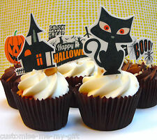 8 x Halloween |  Edible | Pop Top - cake | cupcake decorations | Toppers