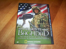 21 DAYS TO BAGHDAD Iraq War Miltary US Forces Desert NATIONAL GEOGRAPHIC DVD