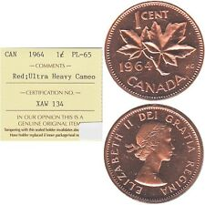 Pair of 1964-1965 Canada 1-cent ICCS Certified PL-65 - Trends $50 for the Pair