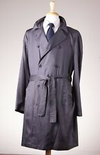 New $1095 EMPORIO ARMANI Lightweight Trench Coat 50/40 Charcoal Gray Italy