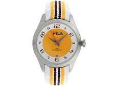 Fila Midsize Matchday Watch FA 0992-22 Brown Yellow Accessory New