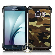 Samsung Galaxy S7 Advanced Armor Case - Brown Camo Protector Guard Shield