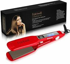 Fairywill Professional Styling Hair Straighteners Red Ceramic Travel Flat Iron