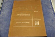 Generation of Planetary Ephemerides on an Electronic Computer Lincoln Lab MIT