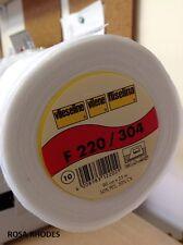 Vilene f220/304 iron-on-non-woven interfaz-Blanco-Mediano