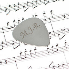 Personalised Silver Plectrum Guitar Pick Gift Idea for Guitar Players Guitarists