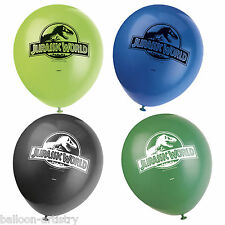 "8 Jurassic World Park Children's Birthday Party 12"" Printed Latex Balloons"