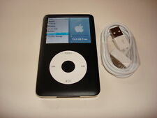 APPLE  IPOD  CLASSIC  6TH GEN.  CUSTOM  BLACK  80GB...NEW  BATTERY...