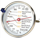 "Taylor Classic 3"" Meat Thermometer Stainless Steel 120-200 New Free US Shipping"