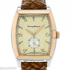 Tommy Bahama Men's Leather Band Basketweave Pineapple Dial Watch TB1220