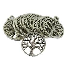 30 x Wholesale Lot Tibetan Silver Tree of Life Pendants Charms DIY Necklace