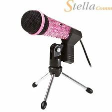 Diamante PC Microphone 3.5mm Diamond Computer Desktop Laptop Microphone Mic