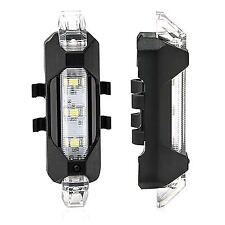 Newest White USB Rechargeable LED Bicycle Bike Tail Light Reflector Safety Lamp