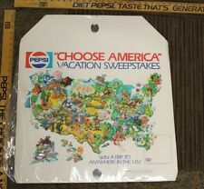 "PepsiCo Choose America US Vacation Sweepstakes Poster Store Ad 20 X 23"" (U)"