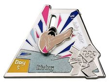 "OFFICIAL LICENSED LONDON 2012 OLYMPIC GAMES PIN / BADGE ""DIVING"" DAY #5"