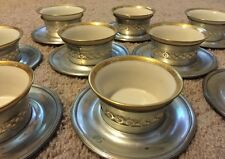 Set Of 10 Baldwin Gorham Sterling Silver Tea Dessert Cup Saucer Lenox Not Scrap