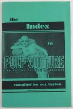 THE INDEX TO PULP CULTURE THE ART OF FICTION MAGAZINES REX LAYTON 1998