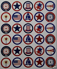 Lot of  30 Precut Images for Bottlecaps AmericanaTheme