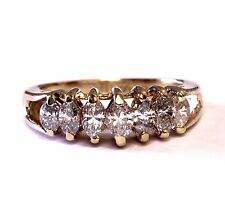 14k yellow gold .65ct SI3 I diamond cluster ring 3.9g vintage estate anniversary