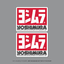 SKU2207 - 2 x Yoshimura Exhausts Decals / Stickers - 100mm x 77mm