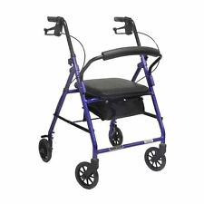 Invacare/Probasics 4 Four Wheel Rollator Walker with Padded Seat, Blue