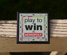 McDonald's Monopoly 2010 Play To Win Gameboard Employee Lapel Pin Pinback