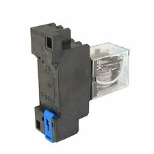 DC 12V Coil 8 Pin General Purpose Relay DPDT HH52P w PYF08A Socket SY AU