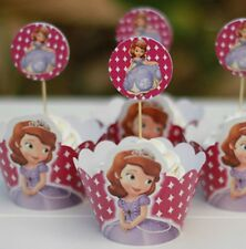 Cupcake Cup Cake Decorating,Toppers Wrappers PARTY DECORATION, Sofia the First