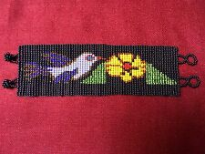 Jalisco Mexican Folk Art Hand Beaded Bracelet Huichol-Style Birds