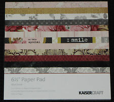"Kaisercraft 'MA CHERIE' 6.5"" Paper Pad KAISER *Deleted 3 LEFT ONLY*"
