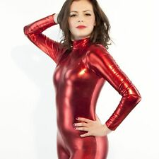 New Costume Metallic lycra Catsuit Zentai Full Body suit S-XXL