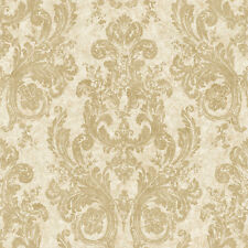 "12""/31cm Wallpaper SAMPLE Nantucket Ornamental Gold Damask NK2090"